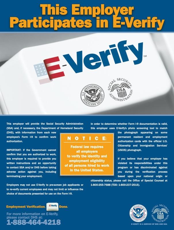 E-Verify® Poster