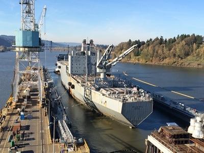 SS Algol coming into drydock