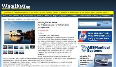 WorkBoat Magazine: 2011 Significant Boats