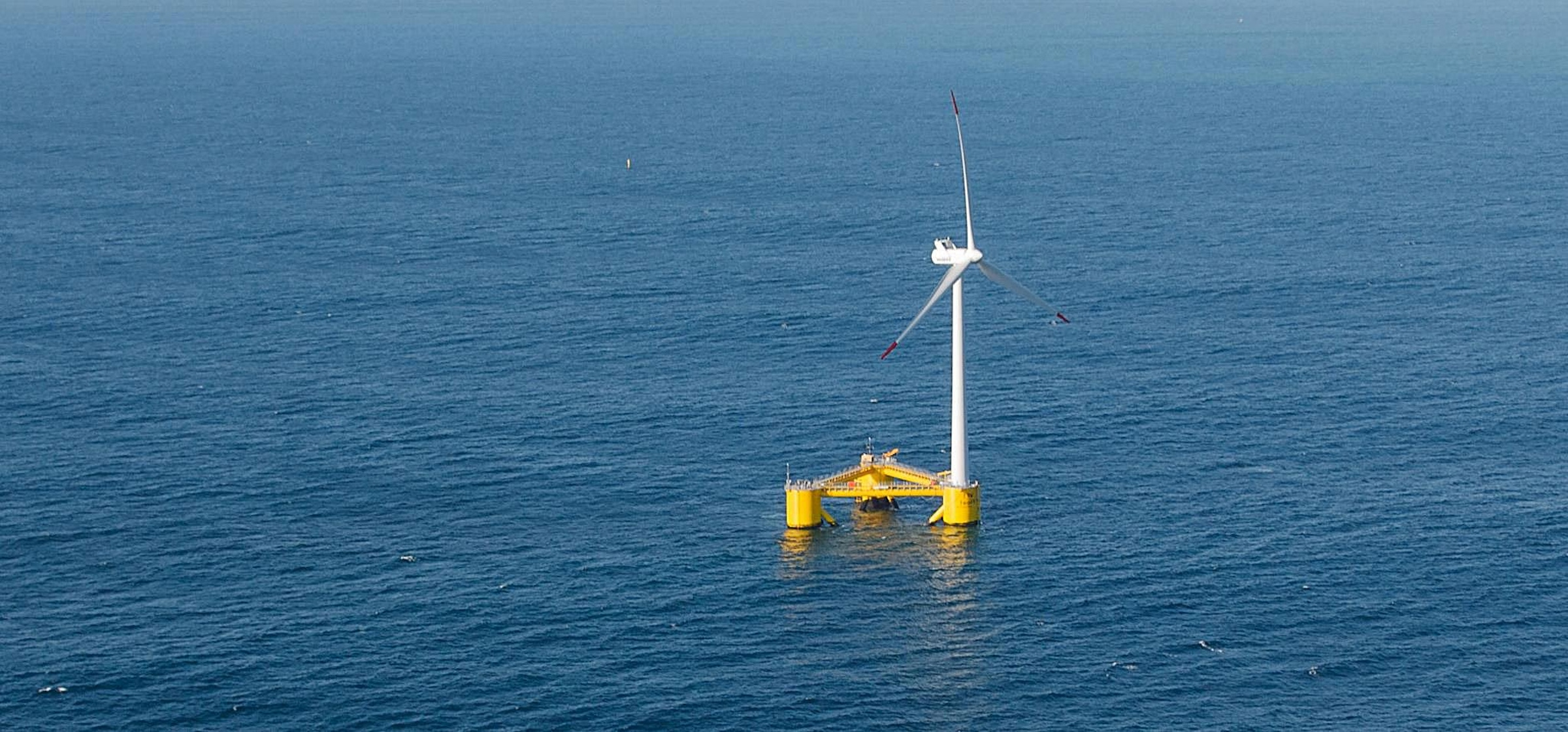 Photo of an Offshore Wind Energy Float in the water
