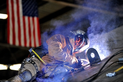 Photo of a Worker Welding