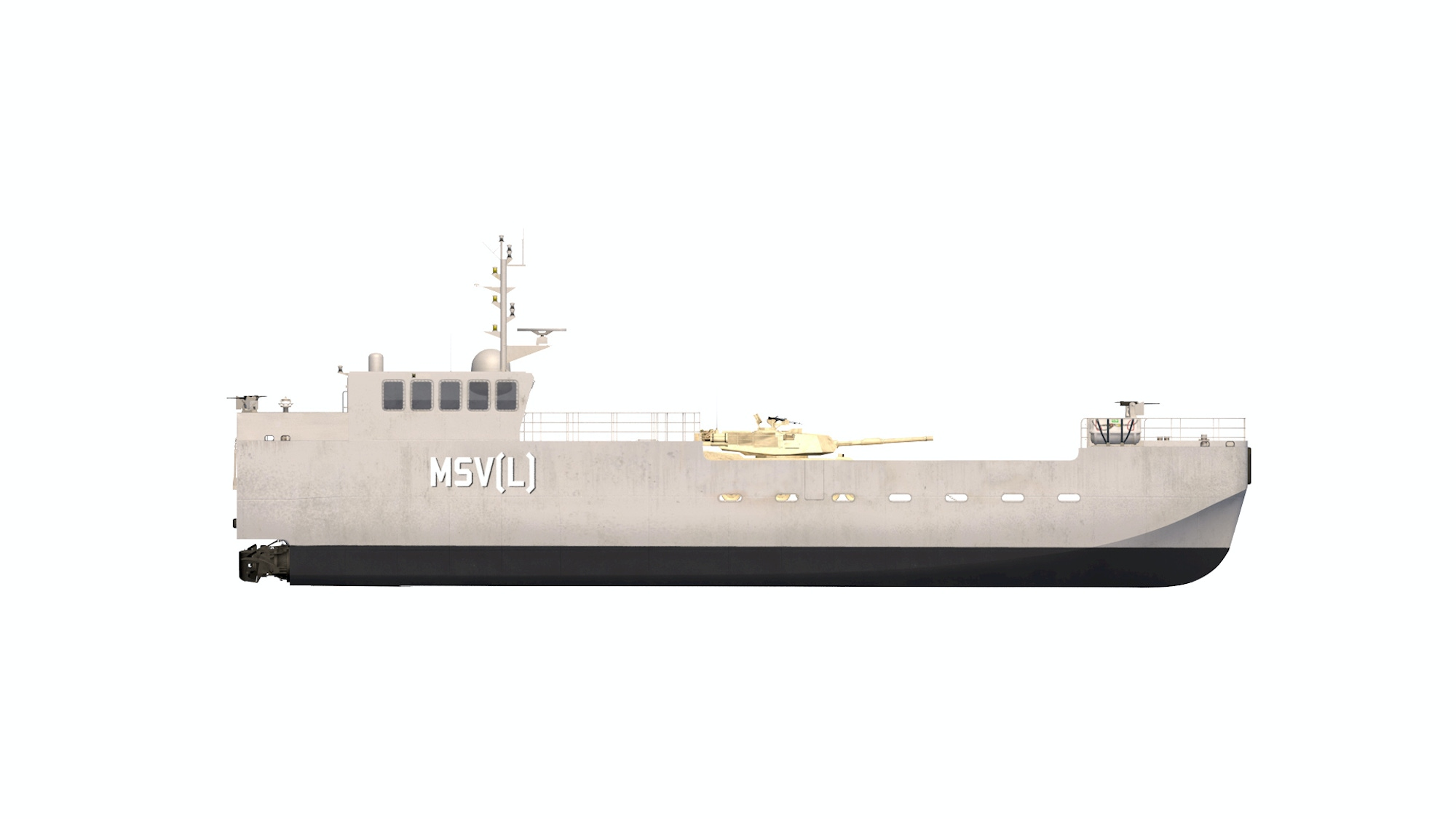 Starboard rendering of a Maneuver Support Vessel (Light)