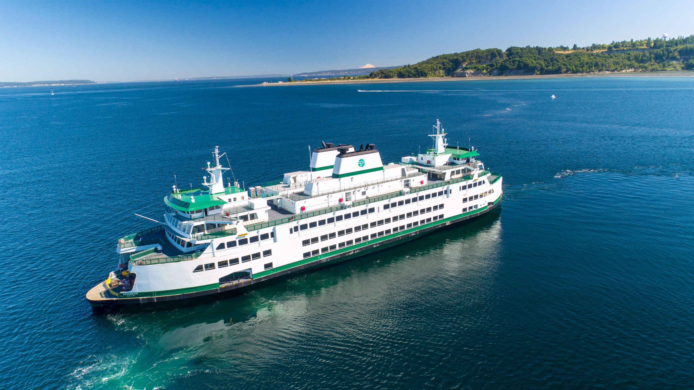 Washington State Ferry Suquamish during sea trials